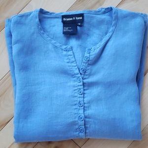Tristan & Iseut - Women's linen blouse